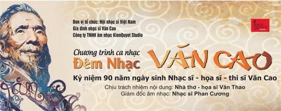 Đêm nhạc Văn Cao - Kỷ niệm 90 năm ngày sinh